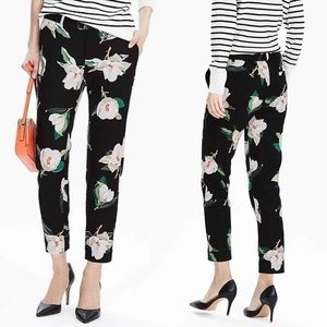 Banana Republic • Black Floral Print Ryan Fit Pant